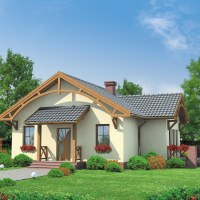 Proiect casa mica doar cu parter cu suprafata de 90 mp