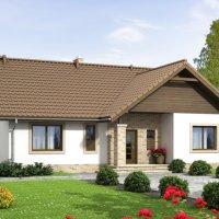 Proiect de casa doar cu parter cu 3 dormitoare in suprafata totala de 106 mp