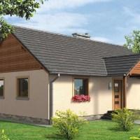 Proiect casa mica de 73 mp cu pridvor si acoperisul in doua ape