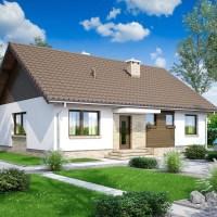 Proiect casa simpla de 99 mp cu acoperisul in doua ape