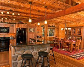 Interioare de vis din cabane rustice de lemn 11
