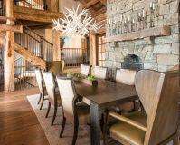 Interioare de vis din cabane rustice de lemn 14