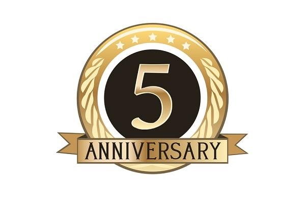 ブログ 5周年