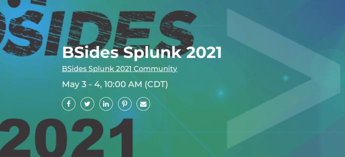 splunk b-sides conference
