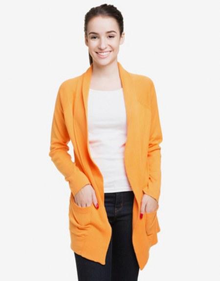 cardigan-orange