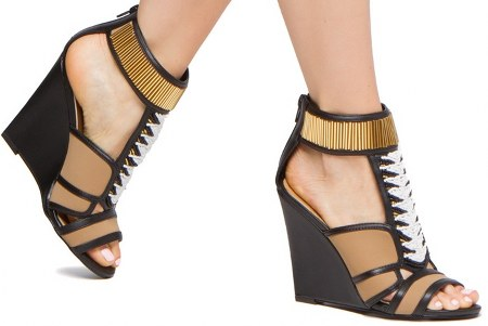 Gabriela Cutout Wedge Heels