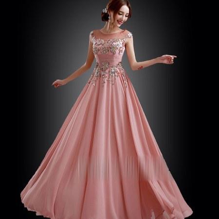 gaun-pesta-dress-panjang-pink-cantik