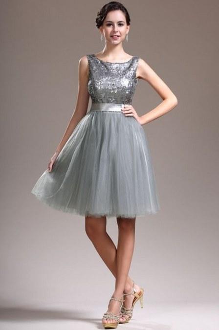 mini dress untuk pesta warna metalik