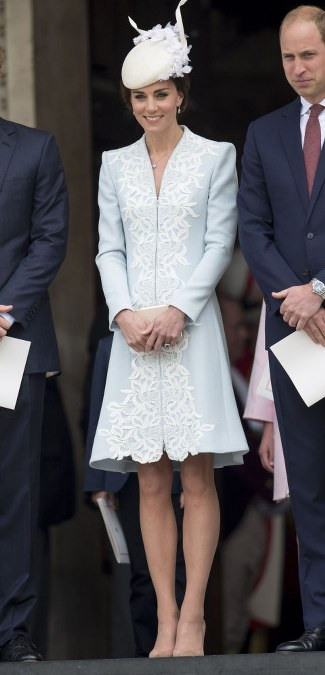 Catherine Walker coat, Jane Taylor hat and an L.K.Bennett clutch