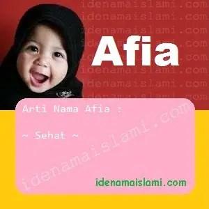 arti nama Afia
