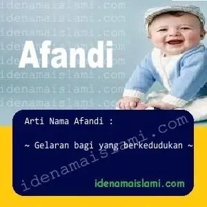 arti nama Afandi
