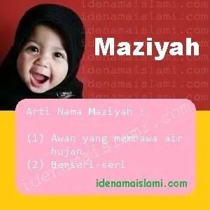 arti nama Maziyah