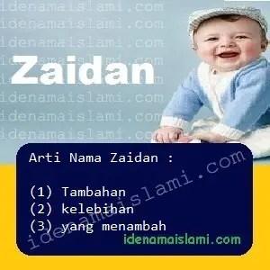 arti nama Zaidan