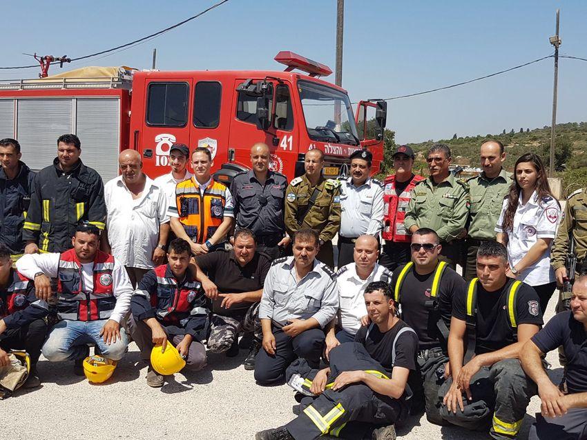 Des pompiers palestiniens se formés chez les Israéliens