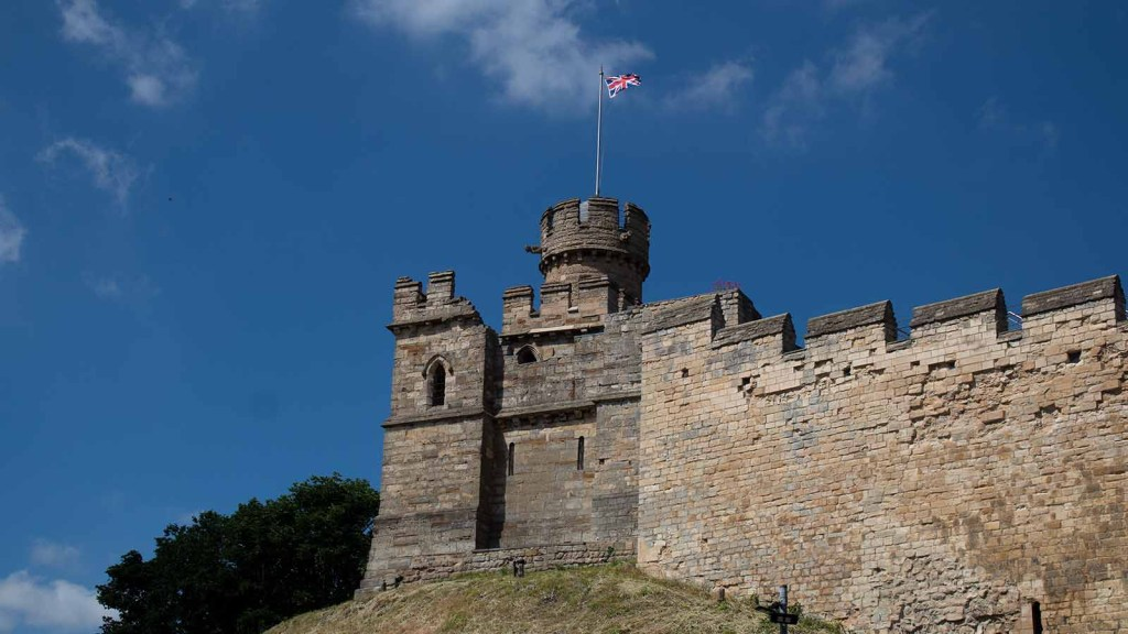 Lincoln Castle on a sunny day