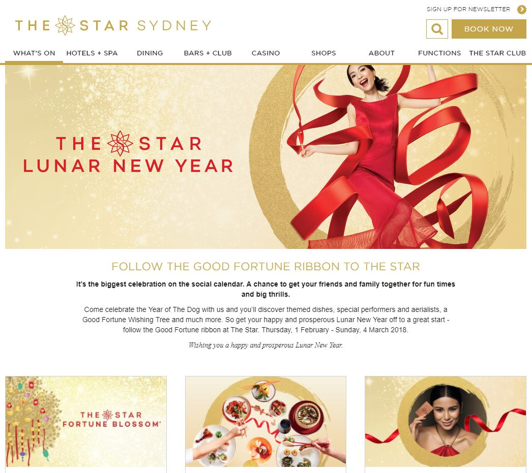 the Star Lunar New Year 2018