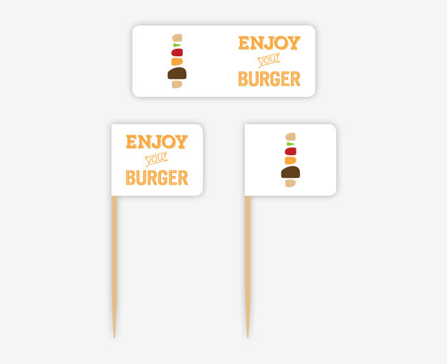 The Burger Map brand identity design