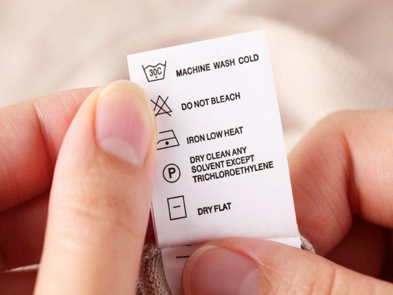 Matte White Custom Care Labels