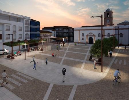 Visualización 3D Arquitectónica Plaza Andalucía