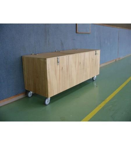 coffre de rangement bois banc au sol 200x50x50 coffre banc au sol idequipe sport