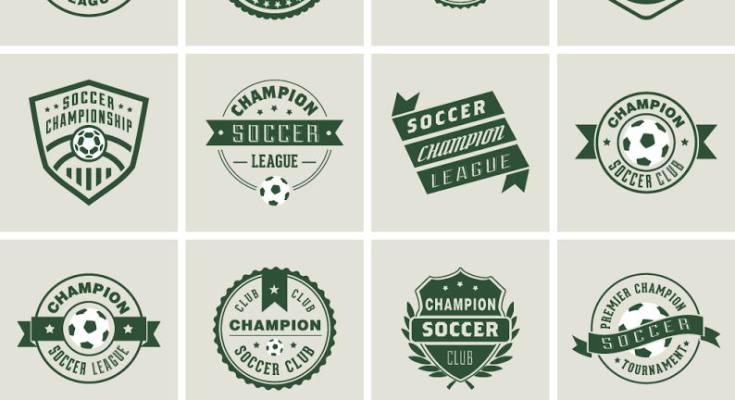 template logo futsal