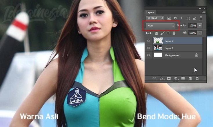 Ubah warna baju dengan photoshop