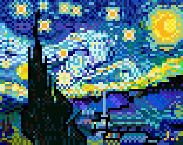 Résultats de recherche d'images pour «famous paintings pixelated»