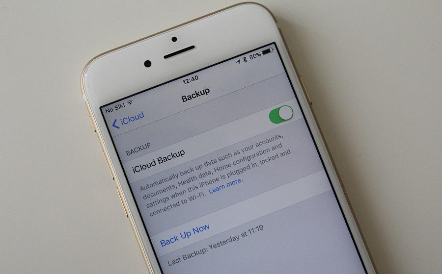 iCloud-Backup 9.3 restore
