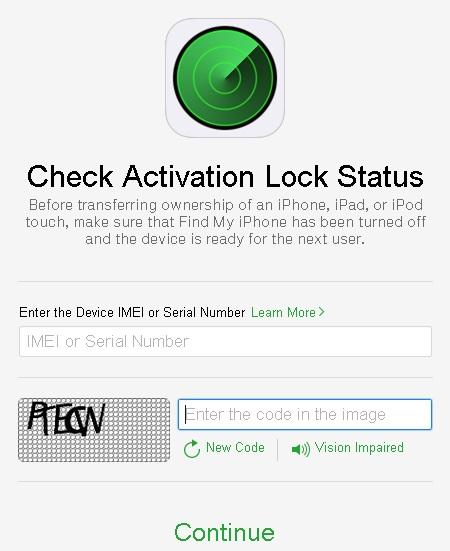 Icloud Activation Lock Statu