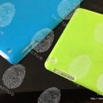 Casing iPad 5 Biru dan Hijau