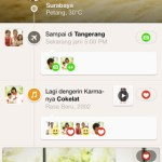 Timeline Unik di Path iPhone