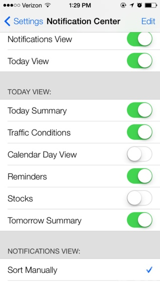 Matikan Info Trafik di Pusat Notifikasi iOS 7 Beta 2
