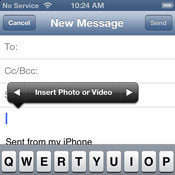 Cara Attach Photo:Video di Mail iOS