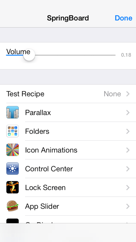 Springboard Hidden Setting