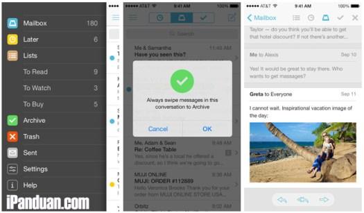 mailbox, dropbox, update, aplikasi iOS, Email