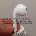 Ciri Earpod Asli iPhone