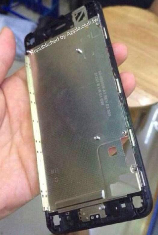 Komponen LCD dan juga lokasi Home Button iPhone 6