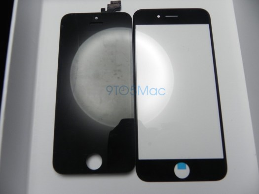 Perbandingan Glass Panel warna hitam iPhone 5s dan iPhone 6