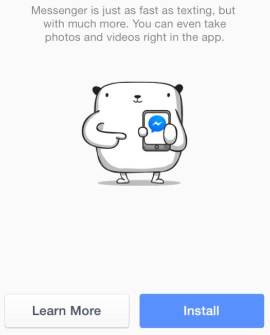 Disuruh Install Facebook Messenger iOS