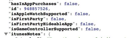 Metadata di iTunes untuk Hide App di iOS