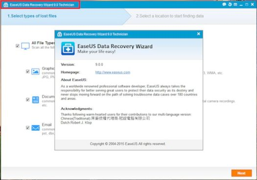 Easus Data Recovery Wizard