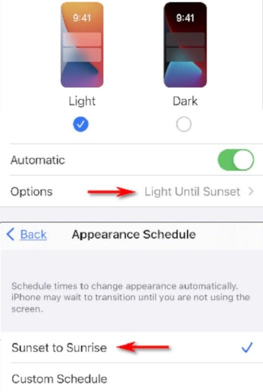 Mengaktifkan Dark Mode Otomatis