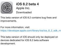 Apple Seeds Fourth iOS 8.2 Beta To Developers..