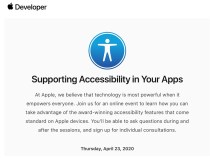 Apple invites some developers to participate in the accessibility webinar before WWDC 2020