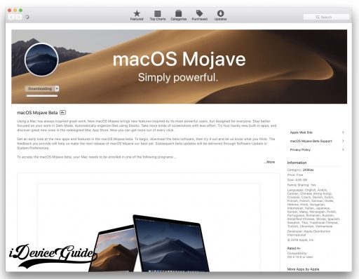 How to Install macOS Mojave without Developer Account - iDeviceGuide