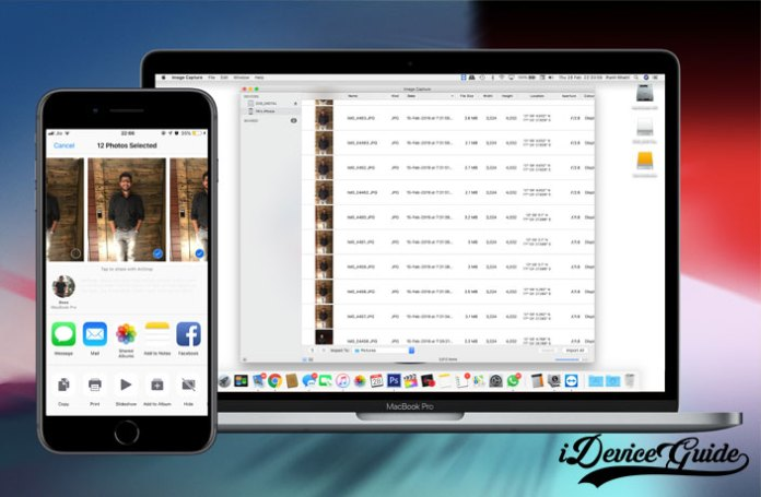 how to import photos from iphone to mac