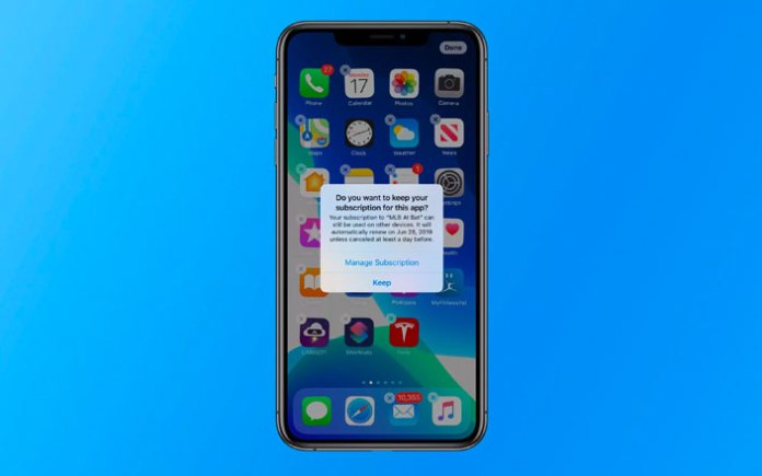 ios 13 subscription popup