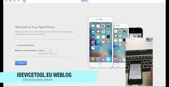 iCloud bypass server all IOS7.1.2 and iPad2 iOS up to 9.3.5