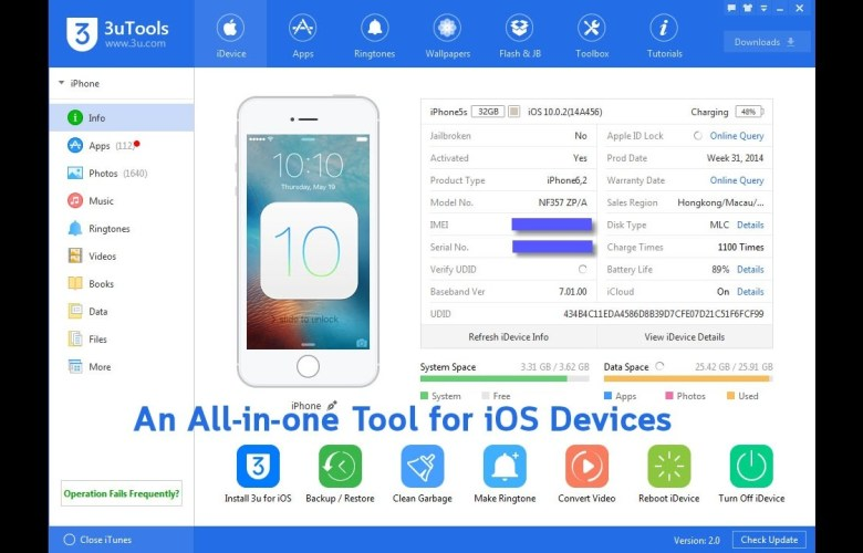 Download 3uTools latest version (updated iOS11)