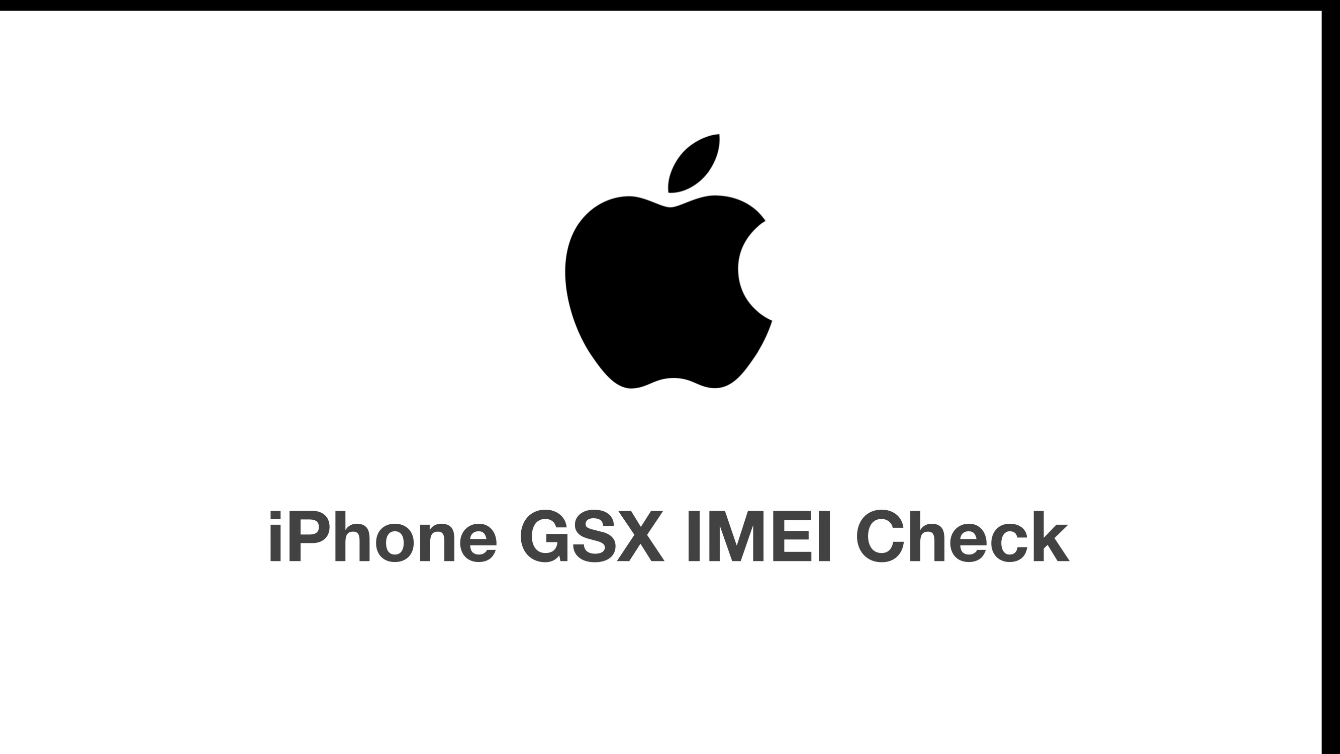Free Gsx Apple Iphone Imei Serial Check